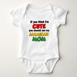 Think I'm Cute Jamaican Mom Baby Bodysuit