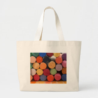 think in color large tote bag