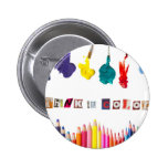 think in colour 2 inch round button