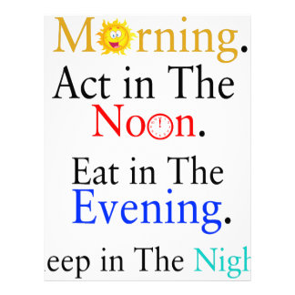 Think in The Morning. Act in The Noon. Eat in The Letterhead
