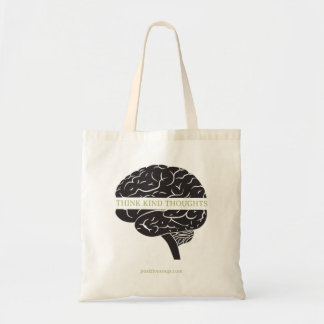 """Think Kind Thoughts"" - Brain Tote Bag"