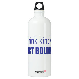 Think Kindly, Act Boldly Water Bottle