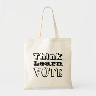 Think, Learn, Vote Tote Bag
