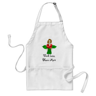 Think Less, Bloom More Garden Angel Standard Apron