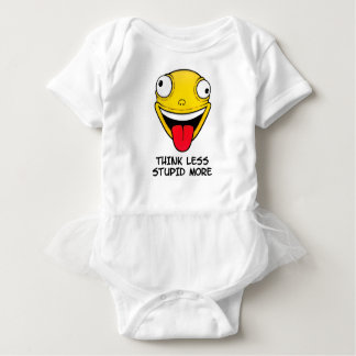 Think less, stupid more baby bodysuit