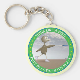 Think Like A Bird Keychain