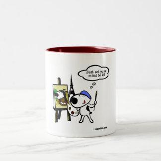 Think Like Leonardo and Do It Two-Tone Coffee Mug