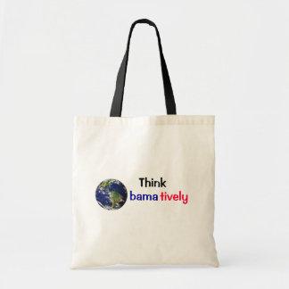 Think Obamatively_world, black, blue, red Tote Bag