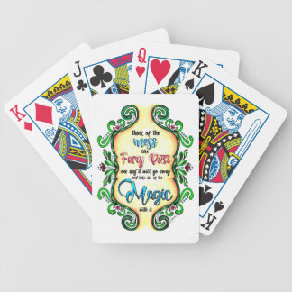 Think of the Mess - Inspiration for moms Bicycle Playing Cards