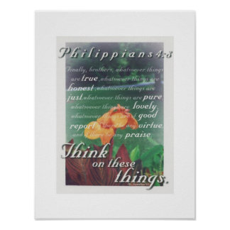 Think on these things poster