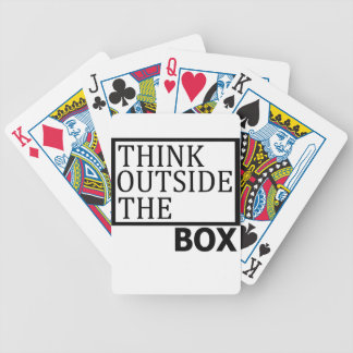 Think Outside The Box Bicycle Playing Cards