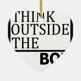 Think Outside The Box Ceramic Heart Ornament
