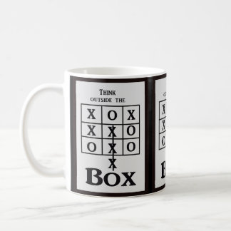 Think outside the box ---  coffee mug