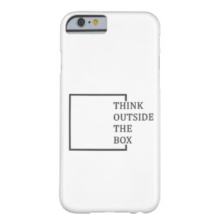 """Think Outside The Box"" iPhone 6/6S cover"