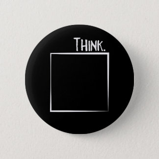 Think Outside The Box Literal Typography 2 Inch Round Button