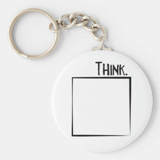 Think Outside The Box Literal Typography Keychain