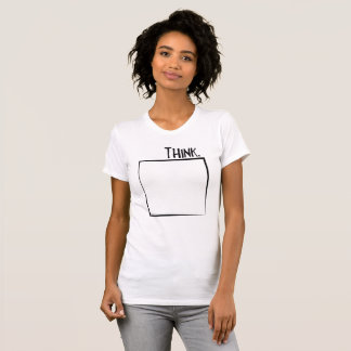 Think Outside The Box Literal Typography T-Shirt