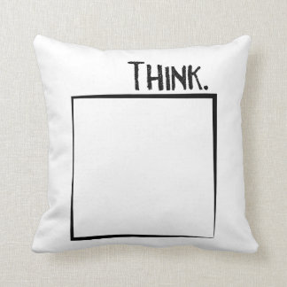 Think Outside The Box Literal Typography Throw Pillow