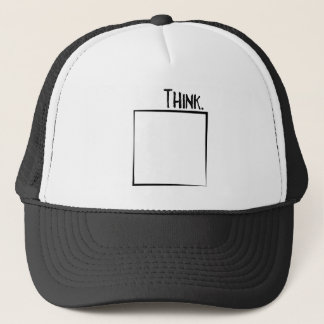 Think Outside The Box Literal Typography Trucker Hat