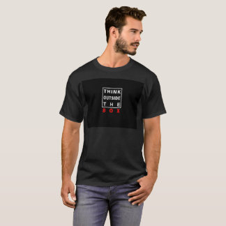 think outside the box red smart text quote clever T-Shirt