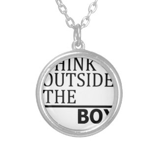 Think Outside The Box Silver Plated Necklace