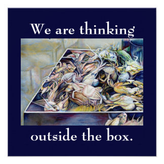 Think outside the box Singapore Invitations