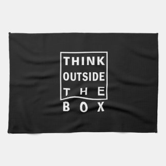 think outside the box smart text quote clever mess kitchen towel