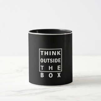 think outside the box smart text quote clever mess mug