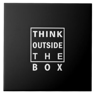 think outside the box smart text quote clever mess tile