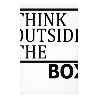 Think Outside The Box Stationery