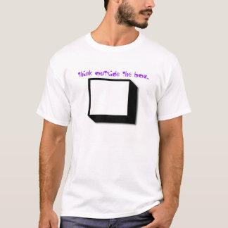 think outside the box. T-Shirt