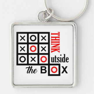 think outside the box tic tac toe extra smart clev keychain