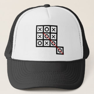 think outside the box tic tac toe extra smart clev trucker hat
