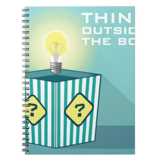 Think Outside The Box Vector Spiral Notebooks