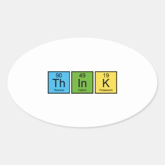 Think Oval Sticker