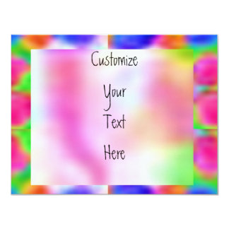 """Think Pink - Support Cancer Research 4.25"""" X 5.5"""" Invitation Card"""