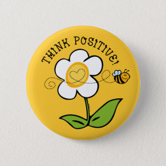 Think Positive Bee 2 Inch Round Button