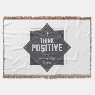 Think Positive Throw Blanket