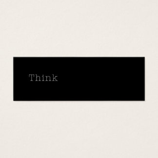 Think Quotes Inspirational Thought Quote Black Mini Business Card