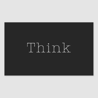 Think Quotes Inspirational Thought Quote Black Sticker