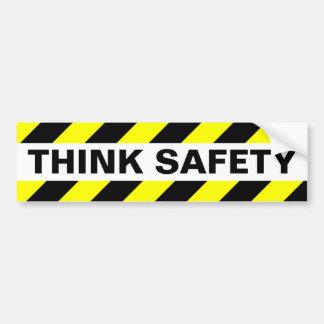 THINK SAFETY BUMPER STICKER