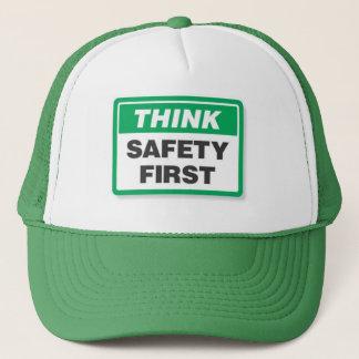 Think Safety First Trucker Hat
