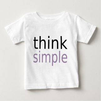 Think Simple (purple edition) Baby T-Shirt
