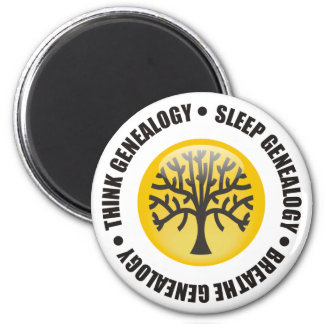 Think Sleep Breathe Genealogy Magnet