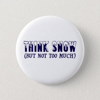 Think Snow 2 Inch Round Button