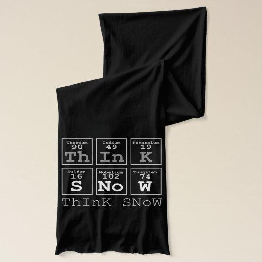 'Think Snow' Black/White Scarf