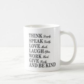 Think speak love MUG