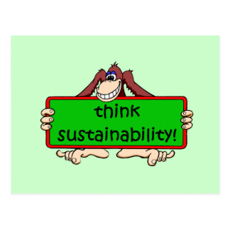 think sustainability postcard