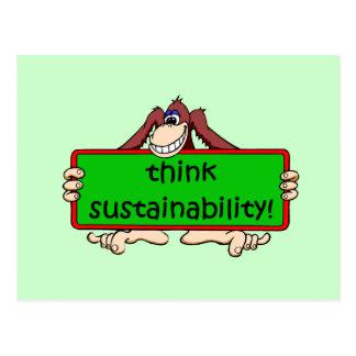 think sustainability postcard