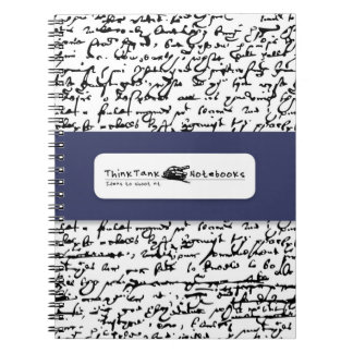 Think Tank Notebook: Shakespeare Scribbles Spiral Note Book